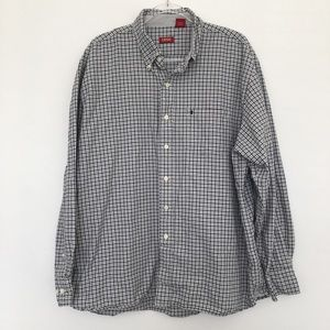 IZOD Plaid Casual Button Down Cotton Shirt
